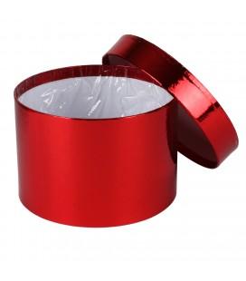 Boite a chapeau diam 14 H10 Rouge