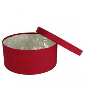 Boite a chapeau diam 22.5 H10 Rouge