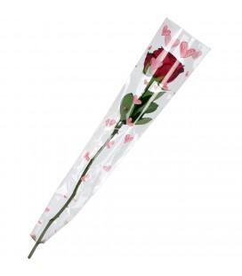 Etui a rose 55x13x03 Coeur x50 p