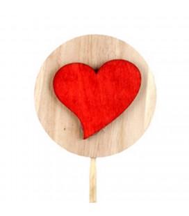 Pics lot de 25 Coeur rouge Ø 7+50cm
