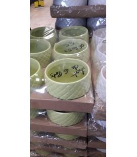 Lot de 4 pot Caya diamant GREEN G15