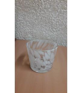 C-pot verre blanc Ø 11.5 H10.5