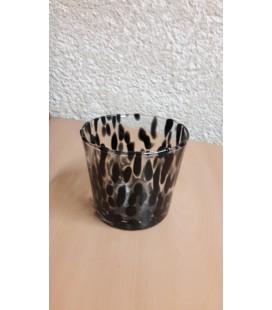 C-pot verre noir Ø 11.50 H10.50