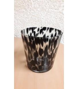 C-pot verre noir Ø 14.5 H14.5