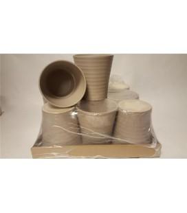 Lot de 9 Pot Céramique Taupe 12.50