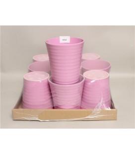 Lot de 9 Pot Céramique Rose C 12.50