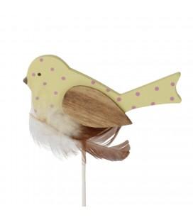 Pics Oiseau  4x7cm+12 cm jaune X24