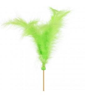 Pics plumes 10 cm +10 Vert cla x 24