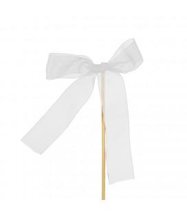 Pics Noeud Blanc 10x13+12 cm x25p