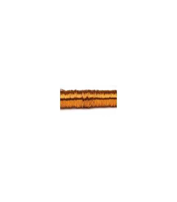Fil laque 0.50mm x 50 m Mandarine