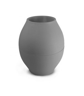 Vase diabolo GRIS FONCE d88xh176mm