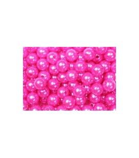 Perles Fuchia 10 mm