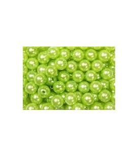 Perles vert pomme14 mm
