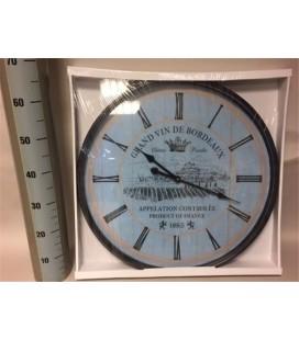 Horloge Ø 66 cm bleu
