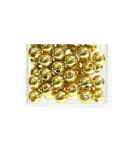 Perles Métalliques Or 10 mm