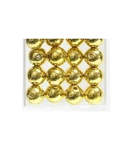 Perles Métalliques Or 14 mm