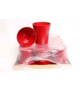 Lot de 9 Pot Céramique Rouge 12.50