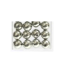 Perles Métalliques Argenté 14 mm