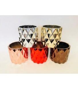 Cache Pot  5 couleurs métallique
