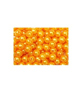Epingle 6mm téte de perle Orange