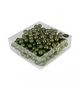 Boule noel fil 3x20mm x144p VERT