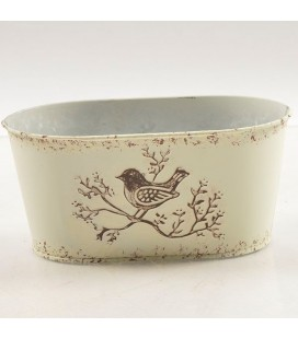 Coupe oval oiseaux 24.5x13 h 10.5