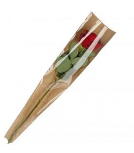Housse a rose kraft brun 65x16x03cm
