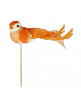 Pics oiseaux orange lot de 24