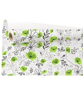 Kraft Lilou  vert /blanc 0.79x40m
