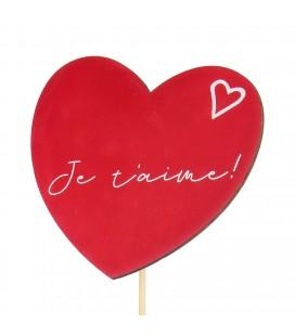 Pics coeur je t aime 7cm +50tige