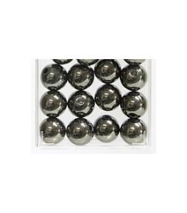 Perles Métalliques Anthracite