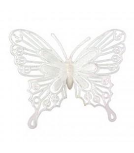 Pics papillons blanc 9x10 lot de24