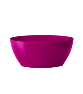 Coupe Oval 20 cm non percé Fuchsia