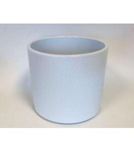 Cache Pot Blanc 17 Cm