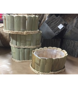 Ovale Bamboo 23X17 h10.5