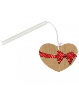 Pendentif bois coeur+7 baton lo 24