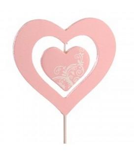 Pics Coeur dou rose 6.50+12 lot 24