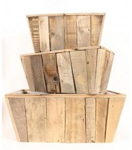 Jardiniere rectangle bois 66x34H30