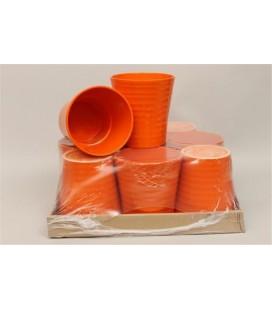 Lot de 9 Pot Céramique Orange 12.50