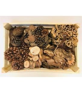 Box mix deco bois naturel
