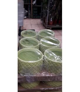 Lot de 6 pot Caya diamant GREEN  GR