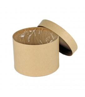 Boite a chapeau diam 14 H10 Brun